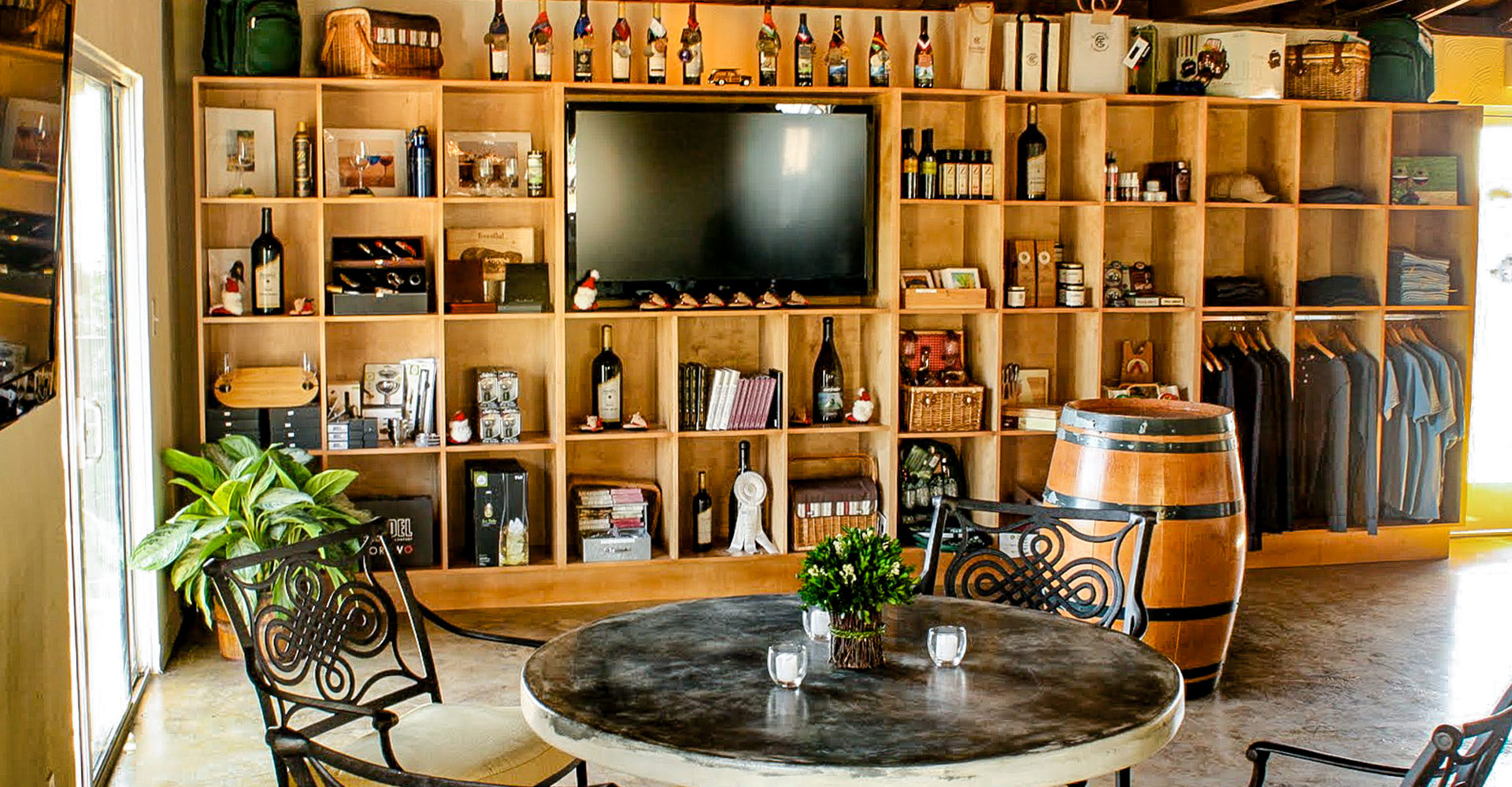 Interior decor of the tasting room