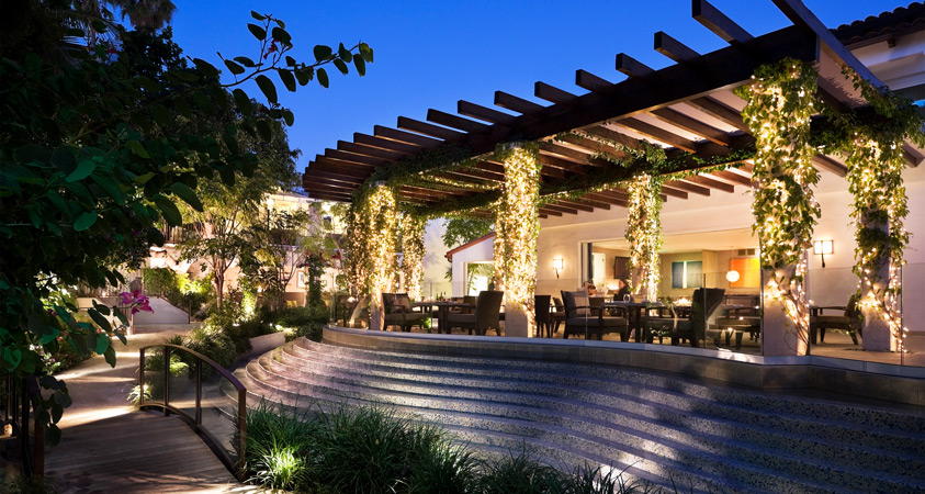 Cavatina restaurant at the Sunset Marquis hotel