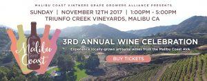 3rd Annual Wine Celebration. November 12